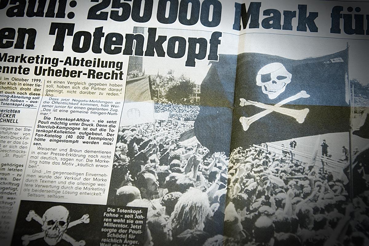 Totenlopf Artikel Mopo vom 07.10.1999