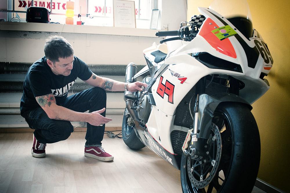Texmen Aktivitaeten im Motorrad Rennsport