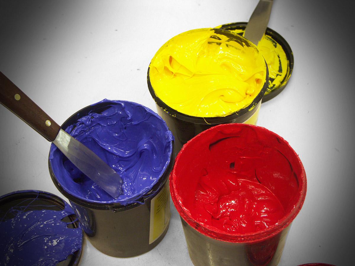 Siebdruckfarben