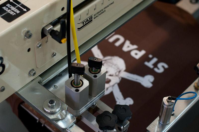 Textildruck Maschine Totenkopf