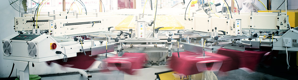 Siebdruck bei der Texmen Textildruck GmbH