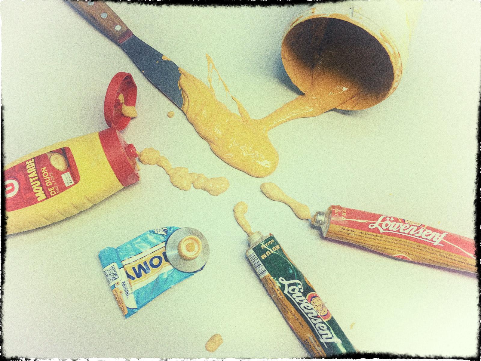 Siebdruckfarbe Senf anmischen