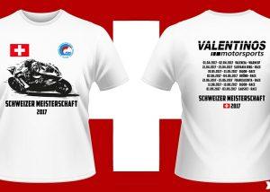 Bedruckte T-Shirts für die schweizer Meisterschaft.
